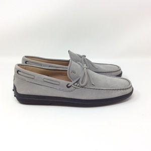 * Tod's Nubuck Boat Shoe Loafers *
